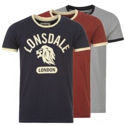 T-Shirt Lonsdale Mens Ringer Tee