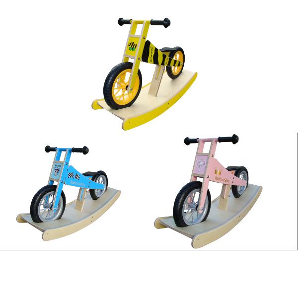 BambinoBike con Dondolo (Balance Bike di Legno) Edition