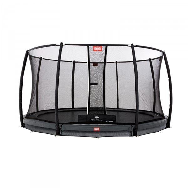 Berg InGround Trampolin Champion Grey + Sicherheitsnetz Deluxe