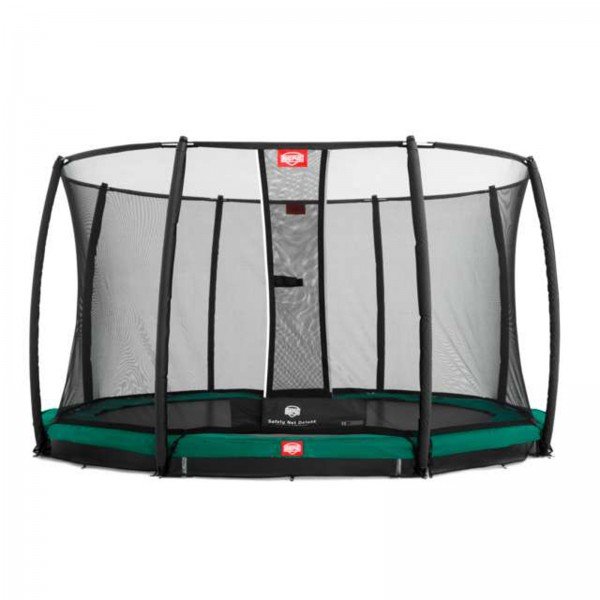 Berg Trampolin InGround Favorit inkl. Sicherheitsnetz Deluxe