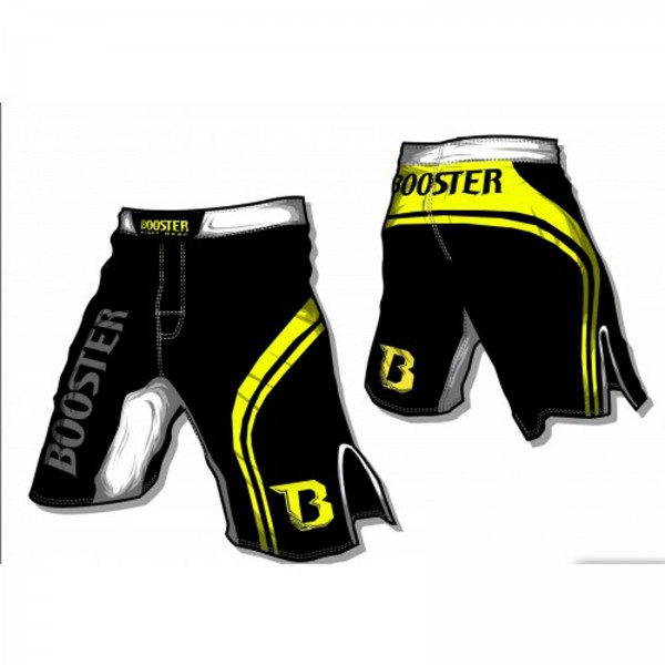 Booster MMA Pro 4 Shorts, black/yellow