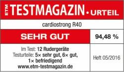 Testsiegel cardiostrong R40