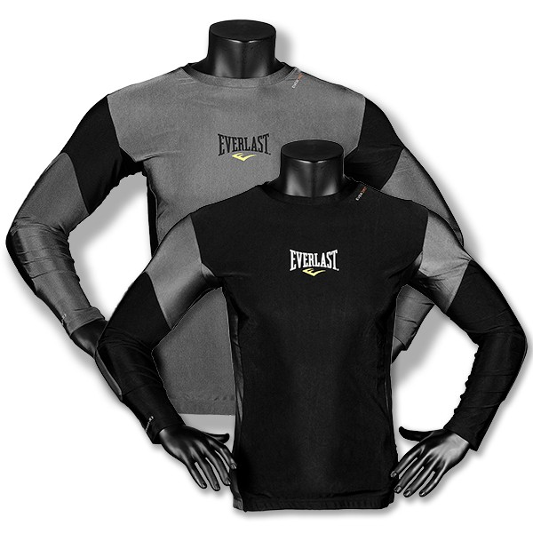 Everlast Men's S/SLV Rash Guard Contrast Panel