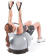 Everlast Pilates Ball mit Resistance Tubes Detailbild