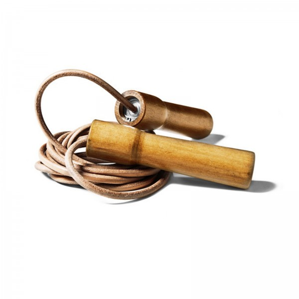 Excellerator Skipping Rope Wooden Handle, leather 285cm