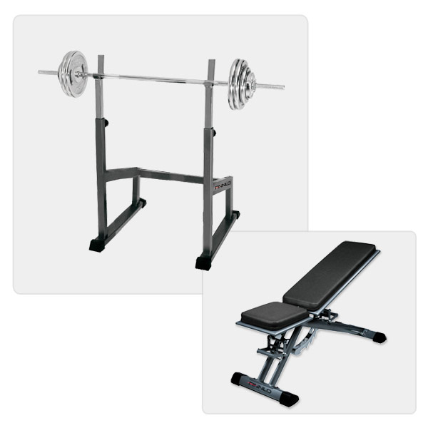Finnlo Design Line incline bench incl. barbell training station