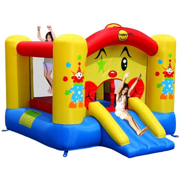 HappyHop Castello Gonfiabile Clown con Scivolo