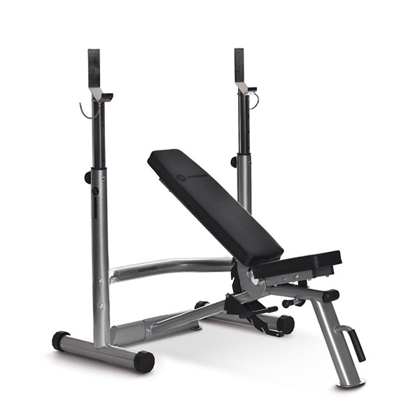 Horizon Adonis Plus weight bench with rack