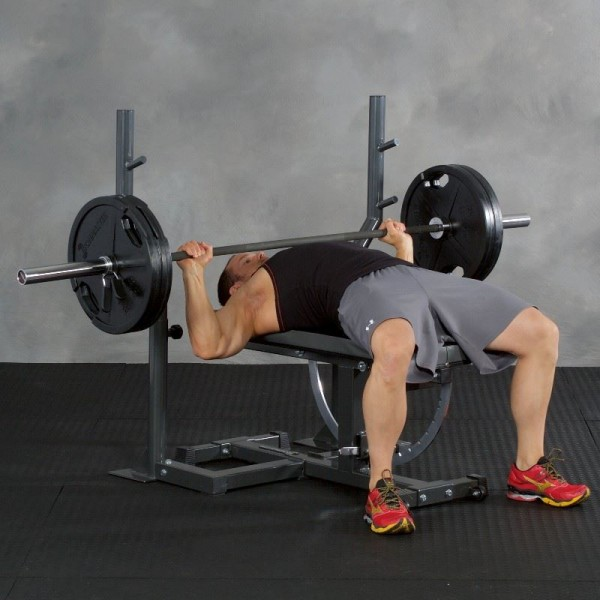 Ironmaster barbell rack for Super Bench weight bench