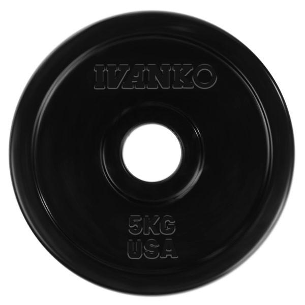 Ivanko disque d'haltère Rubber 50mm