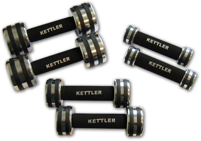 Haltères de poing chromées Kettler