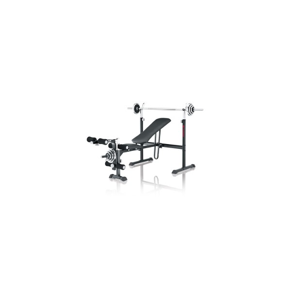 Kettler weight bench Primus 100 incl. curlpult, dumbbell and barbell set