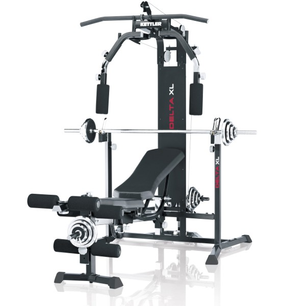 Kettler Fitnesscenter Delta XL inkl. Curlpult, Kurzhantel- und Langhantelset