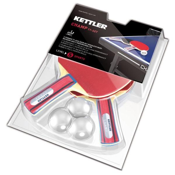 kettler tischtennisschl ger set champ kaufen mit 15. Black Bedroom Furniture Sets. Home Design Ideas