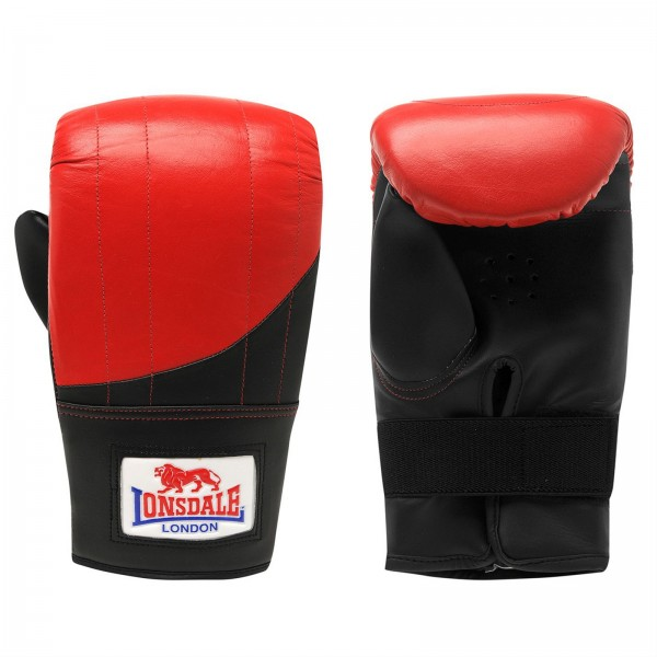 Lonsdale Boxsackhandschuhe rot/schwarz