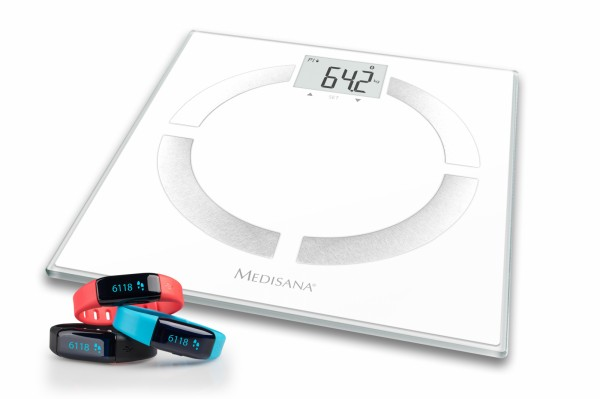 Medisana body analysis scales + activity tracker set