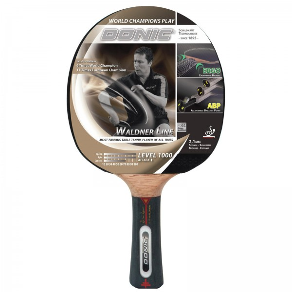 Raquette de tennis de table concave - Donic-Schildkröt Waldner 1000 avec DVD
