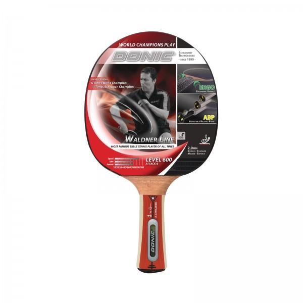 Raquette de tennis de table concave - Donic-Schildkröt Waldner 600 avec DVD