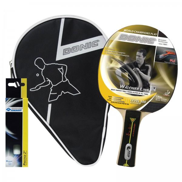 Set de raquettes de tennis de table Waldner 500 Donic-Schildkröt, avec pochettes