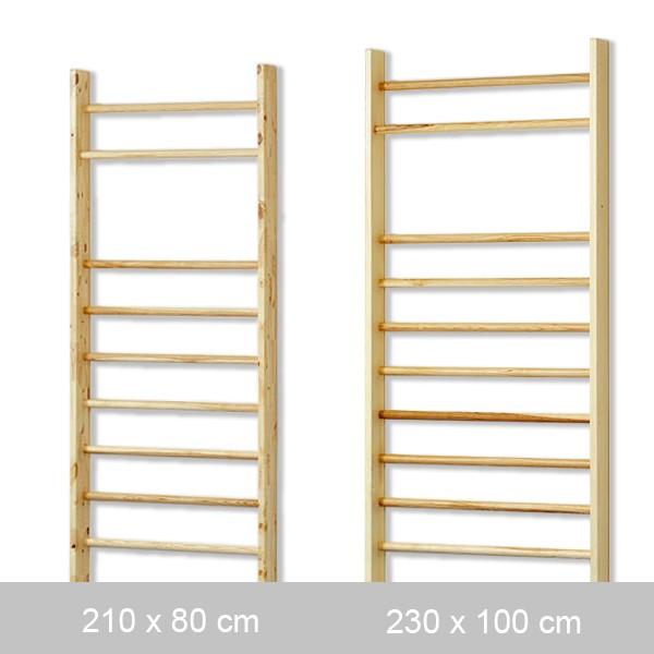 Wall bars with round bars