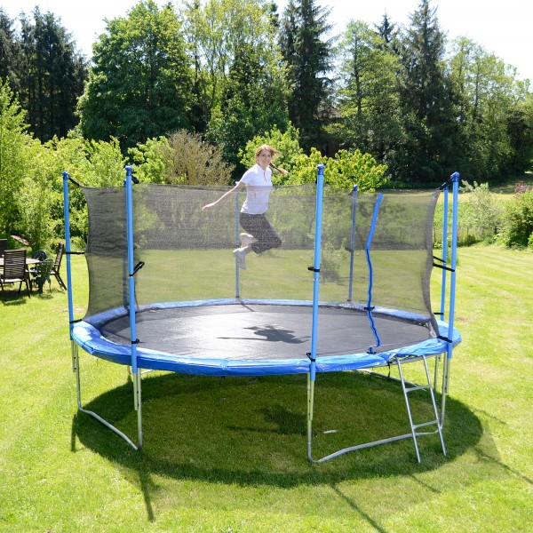 sport tiedje garten trampolin 370 cm inkl sicherheitsnetz leiter kaufen mit 14. Black Bedroom Furniture Sets. Home Design Ideas