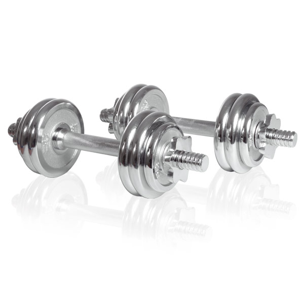 Sport-Tiedje Set Manubri Cromo 15kg