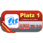 1.Platz im Fit for Fun Laufband-Test