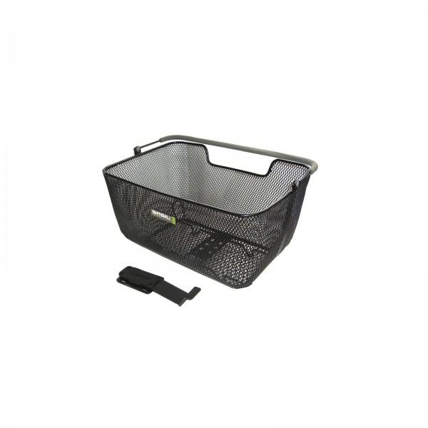 Rear wheel bike basket with slider adaptor for Winora E-bike CX7