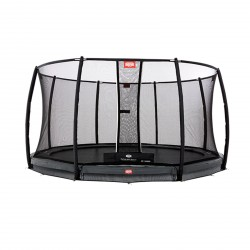 Berg InGround Trampolino Champion Grey 330 + Rete di Sicurezza Deluxe