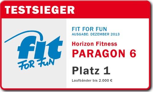 1.Platz im Fit for Fun Laufband-Test