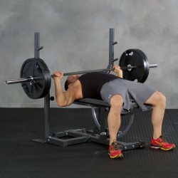 Ironmaster Langhantel-Trainingsstation für Super Bench Hantelbank