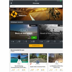 Kinomap Fitness- und Trainings-App