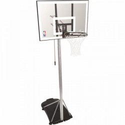 Spalding portable basketball system NBA Silver