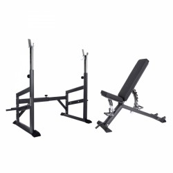 Taurus weight bench B900 + barbell rack Pro