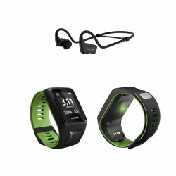 TomTom Runner 3 Cardio + Music GPS sport watch incl. Bluetooth sport headphones