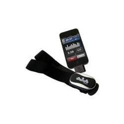 Wahoo iPhone pulse monitor with chest strap
