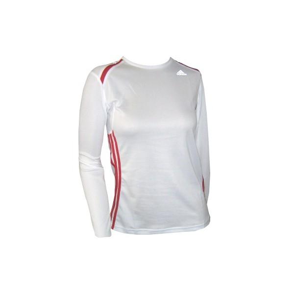 adidas Marathon Longsleeve Tee, bianca, manica lunga