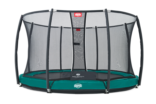 Berg Trampolin  Elite+ InGround inkl. Sicherheitsnetz T-Serie