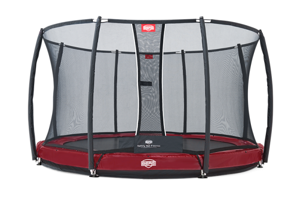 Berg Gartentrampolin InGround Elite plus inkl. Sicherheitsnetz T-Serie