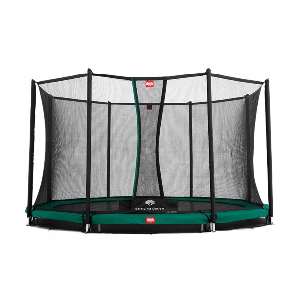 Berg Trampolin InGround Favorit + Sicherheitsnetz Comfort