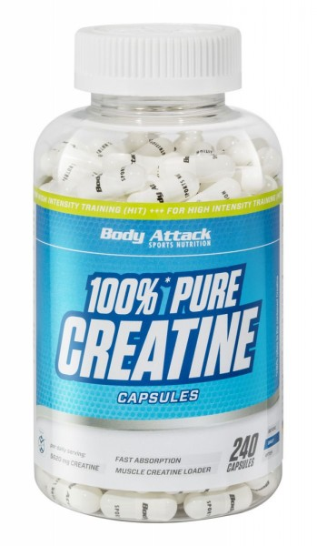 Body Attack 100% Pure Creatine Caps