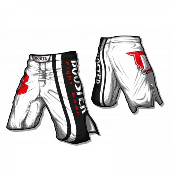 Booster MMA Pro 8 Shorts Origin, white