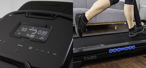 cardiostrong Laufband TX20 Der Fokus liegt auf dem Laufen