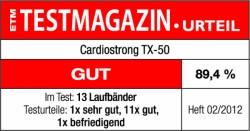 Testsiegel cardiostrong TX50