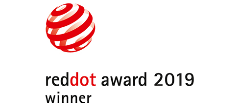 Figure: Vincitore del red-dot Design Award 2019