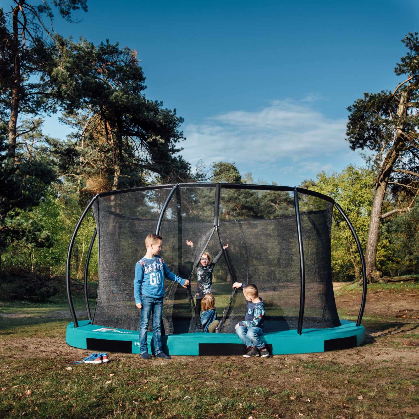 Etan Hi-Flyer Trampoline Inground Set Best Buy At