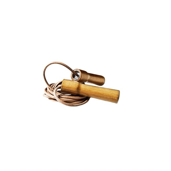 Excellerator Skipping Rope  Wooden Handle, leather