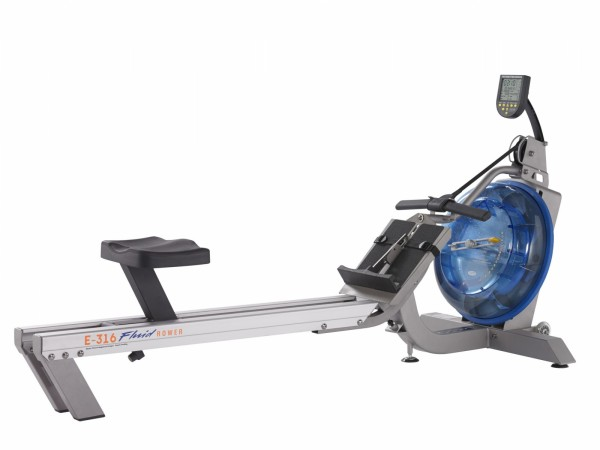 First Degree Fitness Rudergerät Fluid Rower E316 mit HRK
