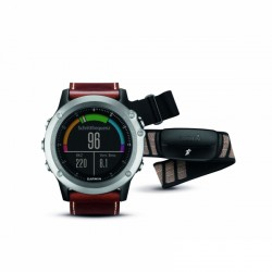 Garmin GPS multi-sport monitor Fenix 3 sapphire silver + leather wristband purchase online now