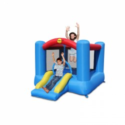 Happy Hop Bouncy Castle with slide and basketball ring purchase online now
